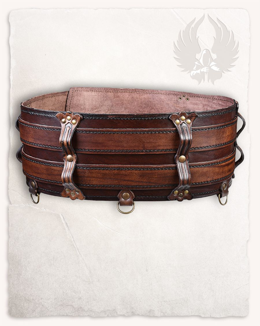 Leather belt pouch for glasses